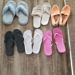 Shoes - mixture of slippers and sandals